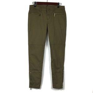 Michael Kors Skinny Ankle Zip Pants